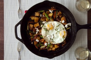 Sandwich Sunday  //  Pancetta Hash w/ Goat Cheese