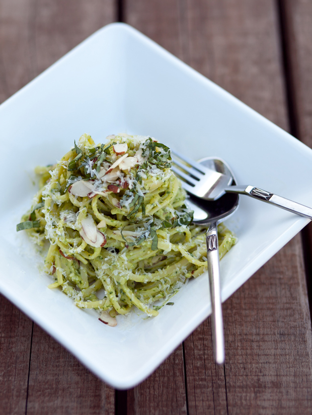 Sandwich Sunday // Avocado & Arugula Pesto Pasta