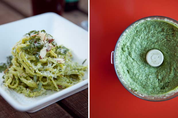 Sandwich Sunday // Arugula Pesto Pasta