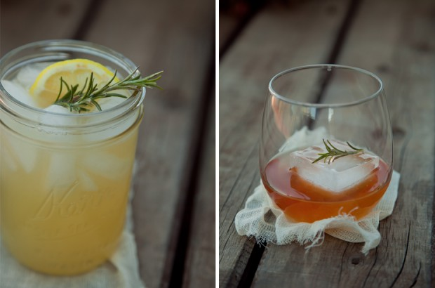 Sandwich Sunday // Rosemary Cocktails
